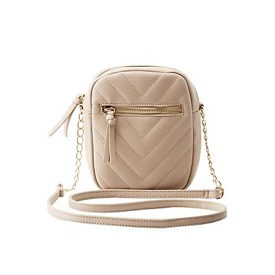 Quilted Chevron Crossbody Bag