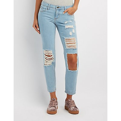 Cello Destroyed Boyfriend Jeans