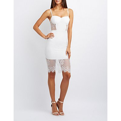 Lace Bustier Bodycon Dress