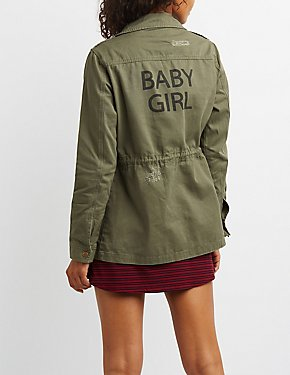 Baby Girl Distressed Anorak Jacket