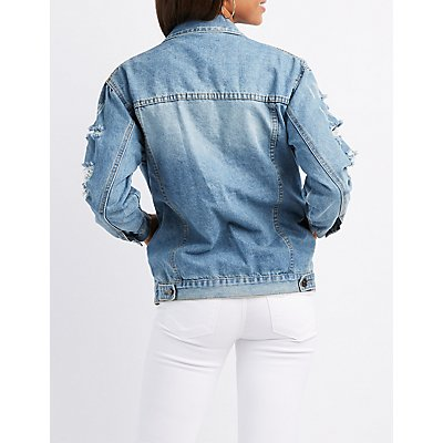 Destroyed Oversize Denim Jacket