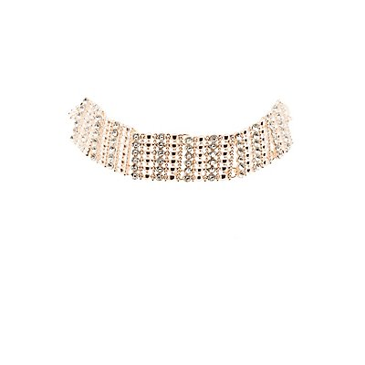 Plus Size Embellished Choker Necklace