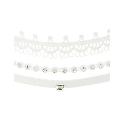 Plus Size Beaded & Crochet Choker Necklaces - 3 Pack