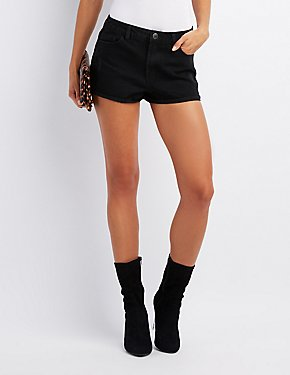 Destroyed High-Rise Cheeky Shorts