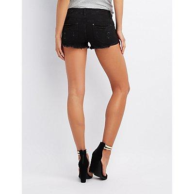 Destroyed Cheeky Denim Shorts
