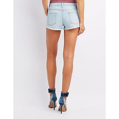 High-Rise Denim Cut-Off Shorts