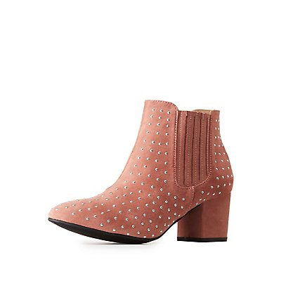 Studded Gored Ankle Booties