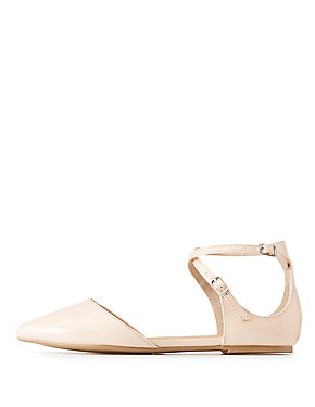Wide Width Strappy D'Orsay Flats