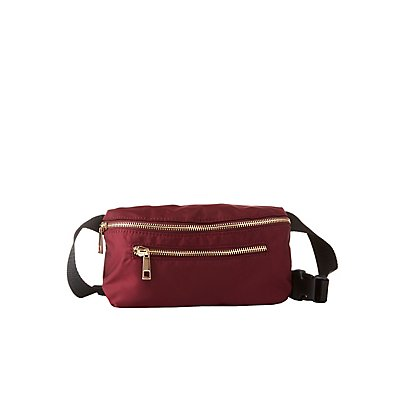Plus Size Zip-Pocket Belt Bag