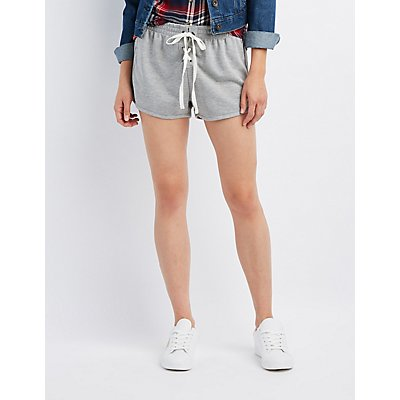 Lace-Up Dolphin Shorts