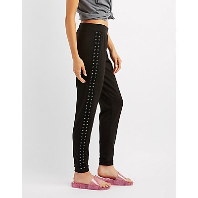 Lace-Up Jogger Pants