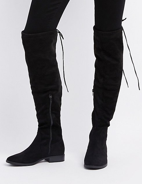 ed178751186 Images. Tie-Back Over-The-Knee Boots ...