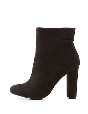 Wide Width Faux Suede Ankle Boots