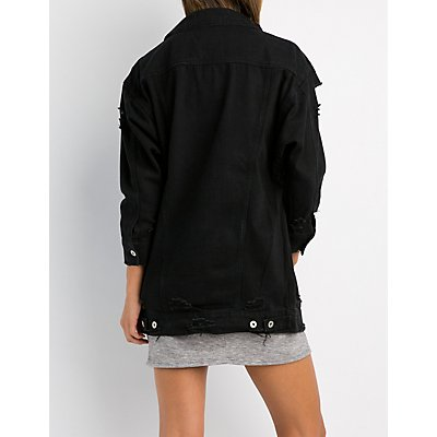Oversize Destroyed Denim Jacket