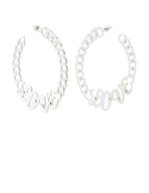 Love Chain Hoop Earrings