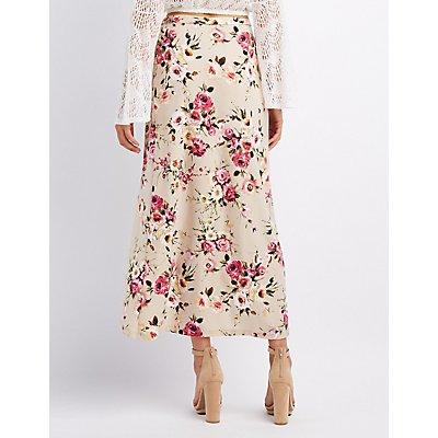 Floral Wrap Maxi Skirt
