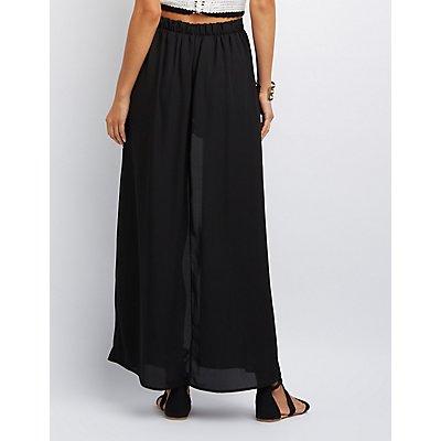 Layered Maxi Skirt Shorts