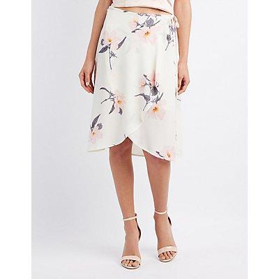 Floral Midi Wrap Skirt