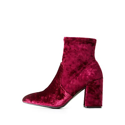 Qupid Pointed Toe Ankle Booties