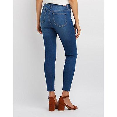 Slit Knee Skinny Jeans
