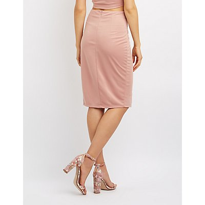 Side Slit Bodycon Skirt