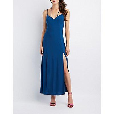 Strappy Double Slit Maxi Dress