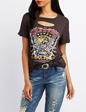 Wild & Free Destroyed Graphic Tee
