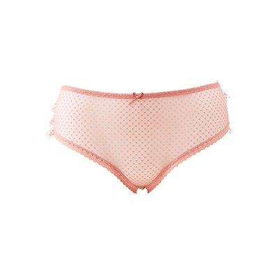 Plus Size Swiss Dot Ruffle-Trim Hipster Panties