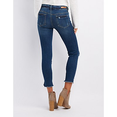 Dollhouse Destroyed Step Hem Skinny Jeans