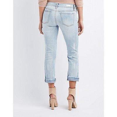 Destroyed Crop Boyfriend Jeans
