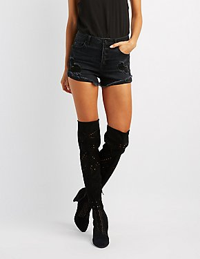 Laser Cut Over-The-Knee Boots