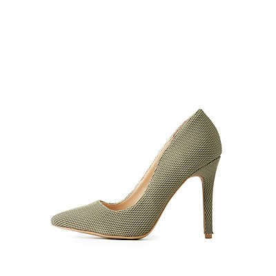 Mesh Pointed Toe Pumps