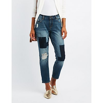 Refuge Destroyed Patchwork Jeans