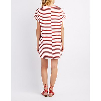 Striped Pocket T-Shirt Dress