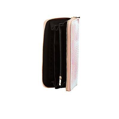 Holographic Zip-Up Wallet