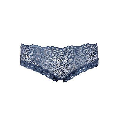 Lace & Mesh Boyshort Panties