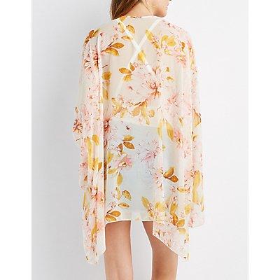 Floral Dolman Sleeve Kimono