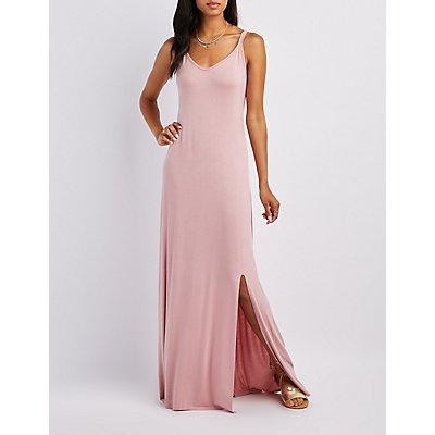 V-Neck Slit Maxi Dress