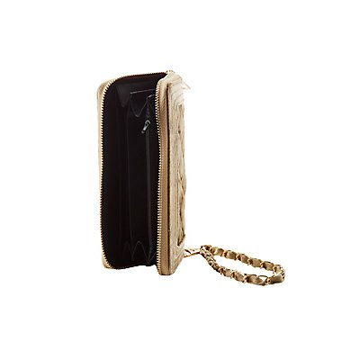 Velvet Quilted Wristlet Wallet