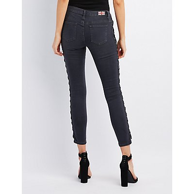 Machine Jeans Lace-Up Skinny Jeans