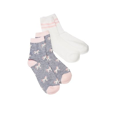 Unicorn Crew Socks - 2 Pack
