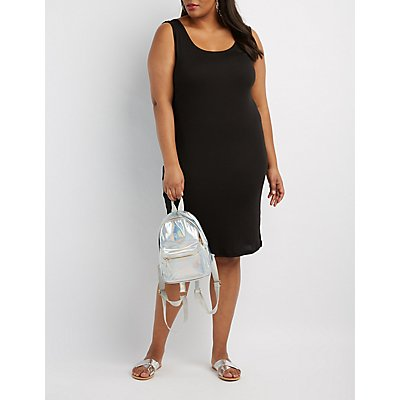 Plus Size Ribbed Bodycon Dress