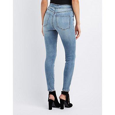 Refuge Lace-Up Skinny Jeans
