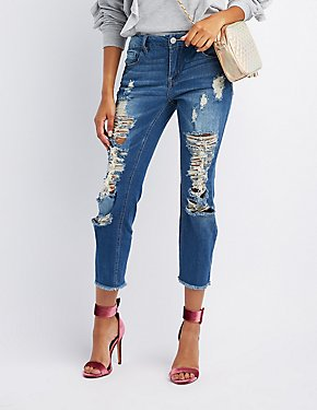 Refuge Destroyed Boyfriend Jeans