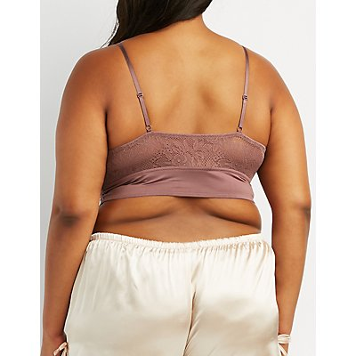 Plus Size Lace T-Strap Bralette