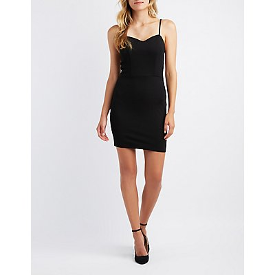 Caged Sweetheart Bodycon Dress