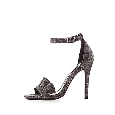 Ruffle-Trim Ankle Strap Dress Sandals