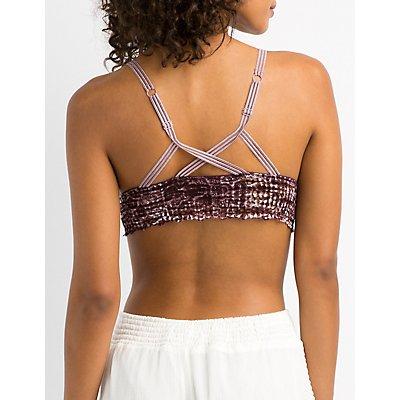 Strappy Lace Longline Bralette