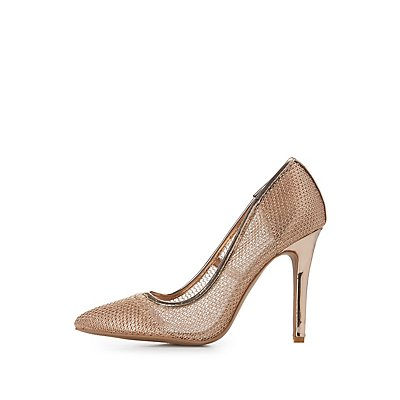 Metallic Pointed Toe Pumps