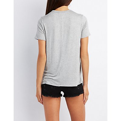 Hard Rock Graphic Cut-Out Tee